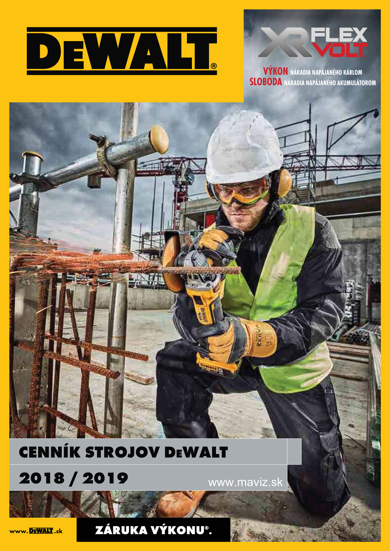 DeWalt cenník 2018-2019