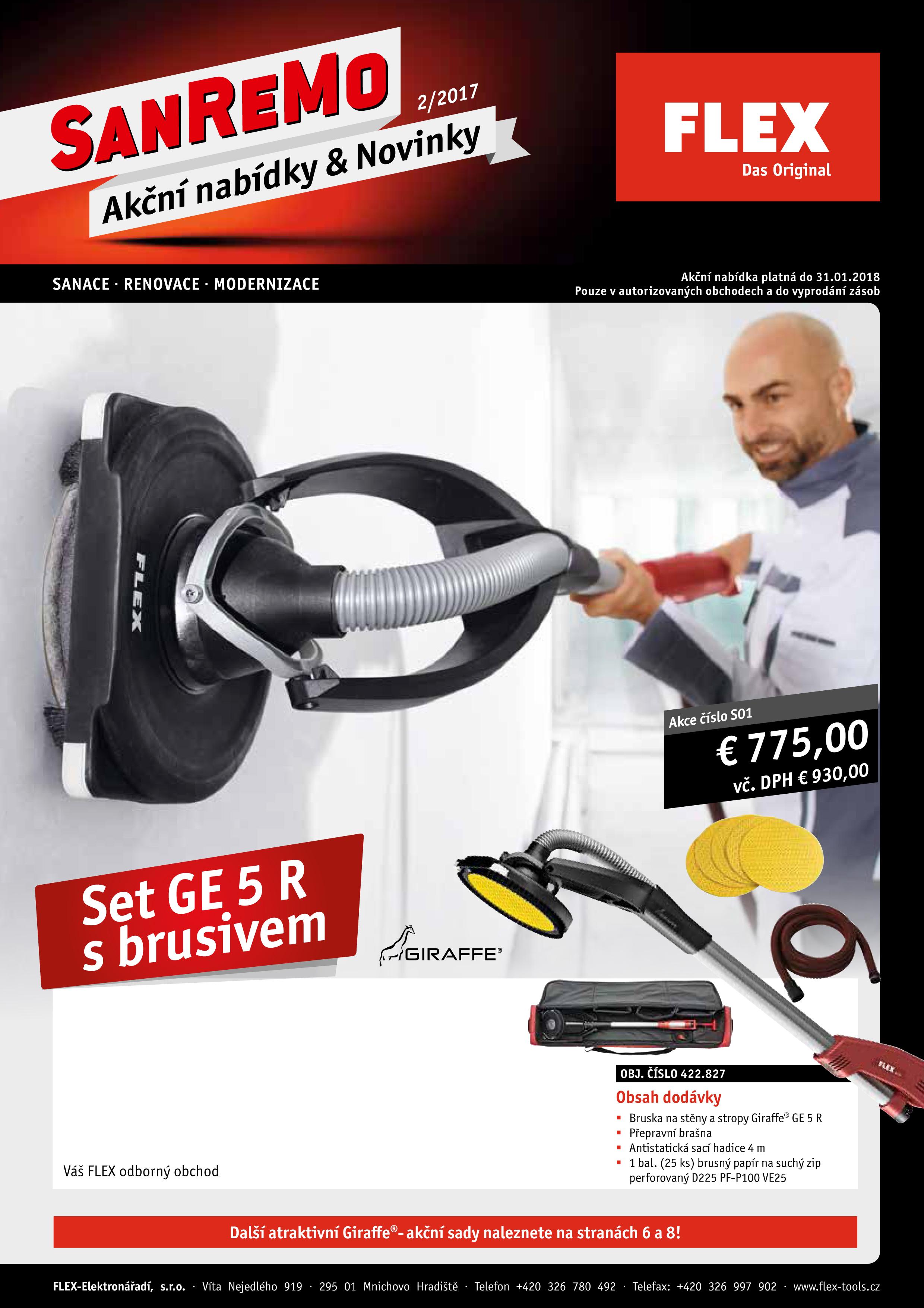 Akciový leták SANREMO FLEX-tools